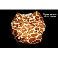 Minky Bamboo Snaps Cloth Diaper/ Nappy - Os - Cheetah Prints