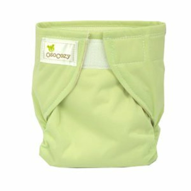 OsoCozy All In One Cloth Diapers (Large 18-25lbs, Light Green)