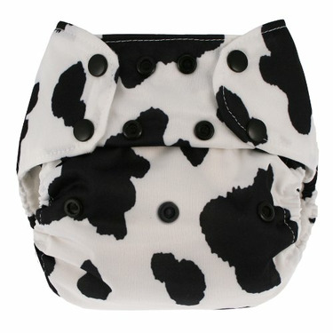 Blueberry Deluxe Diaper Snaps, Cow