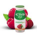 activia shot probiotique lactose free raspberry