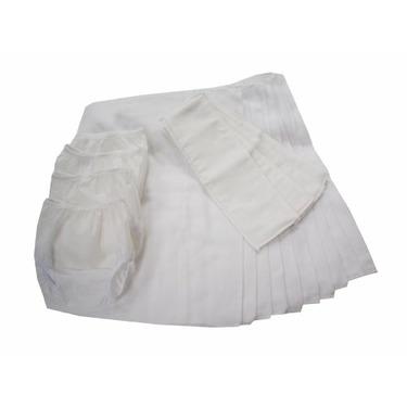 Dappi Prefold Eco-friendly Cloth Diaper Bundle, White, Small