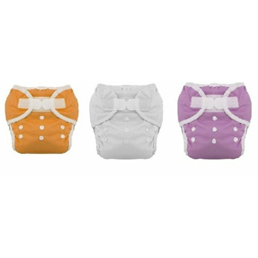 Thirsties Duo Diaper Cloth Diaper Size 1 -6 Pack Gender Neutral Colors with Dainty Baby Reusable Bag Bundle