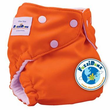 FuzziBunz One Size Cloth Diaper, Dreamsicle