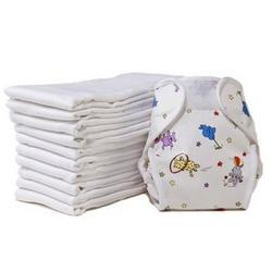 Prefold Cloth Diapers - Regular (White)