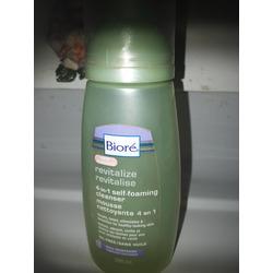 Biore self foaming facial cleanser