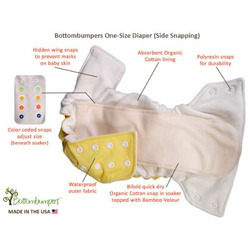 Bottombumpers Certified Organic All In One with Side Snaps - Honeydew
