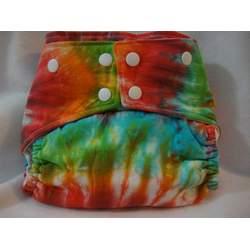 ButterBears One Size Multi Color Tie Dye Cloth Diaper