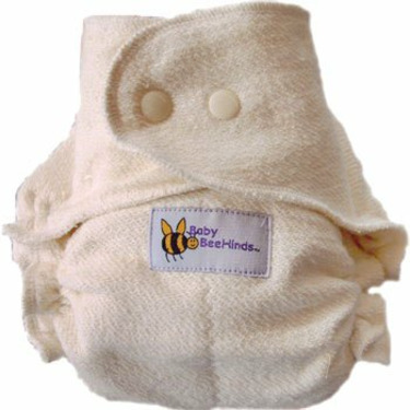 Baby BeeHinds One Size Fitted Cloth Diaper Natural