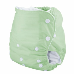 Knickernappies One Size Pocket Diaper with Microfiber Inserts - Celery