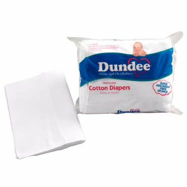 Dundee Pre Fold Super Absorbent Diaper - White