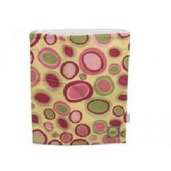 LARGED ZIPPERED WET BAGS BUBBLE DOT PINK