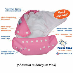 Fuzzi Bunz Baby White Cloth Pocket Diaper