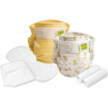 Kushies - Reusable Ultra Diapers for Infants - Trial Pack - Colors May Vary
