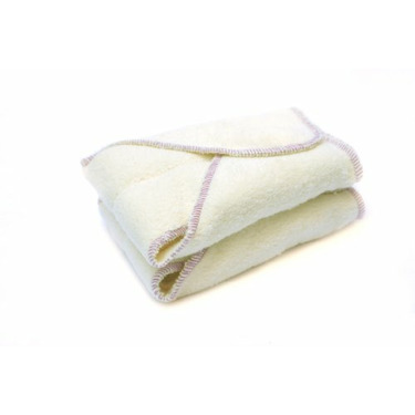 Kissaluvs Cotton Fleece Contour Diaper, 2 Pack, Unbleached, Medium/Large 15-30lbs