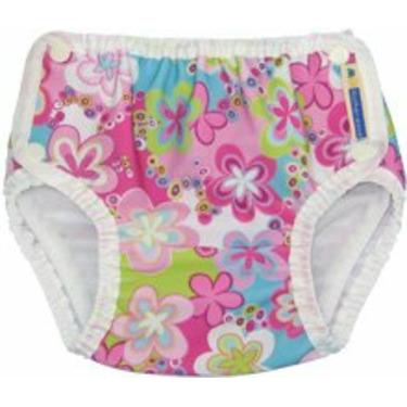 Mother-Ease Swim Diaper (Medium, Splash Daisies)
