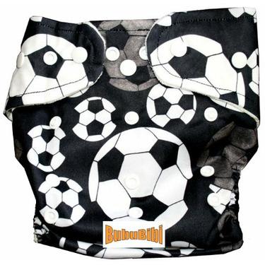 Bamboo Pocket Snaps Cloth Diaper/ Nappy - OS - Soccer Prints