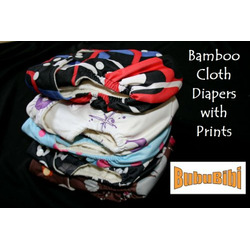 Bamboo Pocket Snaps Cloth Diaper/ Nappy - OS - Soccer Prints