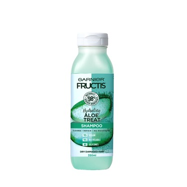 Garnier Fructis Hydrating Aloe Treat Shampoo for Dry, Damaged Hair