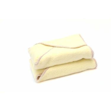 Kissaluvs Cotton Fleece Contour Diaper, 2 Pack, Yellow, Medium/Large 15-30lbs