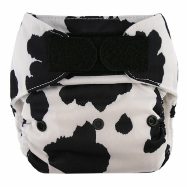 Blueberry Deluxe Hook/Loop Diaper, Cow