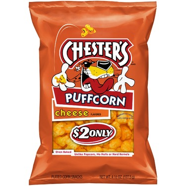 Chester's puffcorn cheese flavored