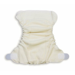 Organic Caboose Aplix Fitted Diaper - Large