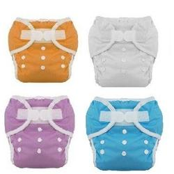 Thirsties Duo Diaper Cloth Diaper Size 1 6 Pack Boy Colors with Reusable Dainty Baby Bag Bundle