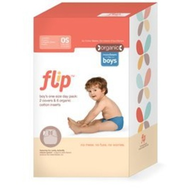 Flip - Snap - with Organic Insert - Day Pack-Moonbeam Package (6 pack)