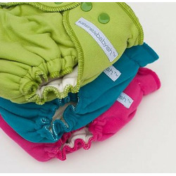 Sustainablebabyish Organic Fleece Fitted Diaper - Large Natural