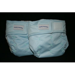 MamaLittleHelper 2.0 One Size Fitted Organic Bamboo Cloth Diaper - BLUE