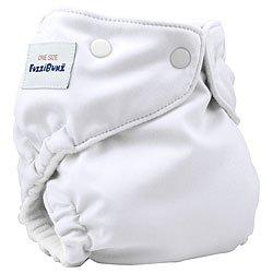FuzziBunz Onesize White Cloth Diaper [Baby Product]