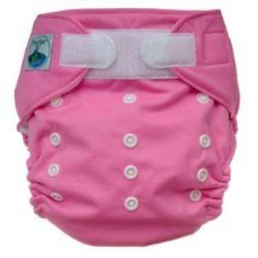 Tiny Tush Elite One-Size Cloth Diaper Aplix (Velcro-type) RASPBERRY PINK