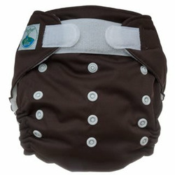 Tiny Tush Elite One-Size Cloth Diaper Aplix (Velcro-type) Chocolate