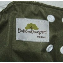 Bottombumpers Certified Organic All In One with Side Snaps - Small Brown