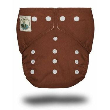 Tiny Tush Elite One-Size Cloth Diaper Snap Chocolate [Health and Beauty]
