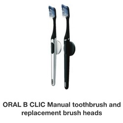 Oral-B Clic Manual Toothbrush with replaceable brush heads