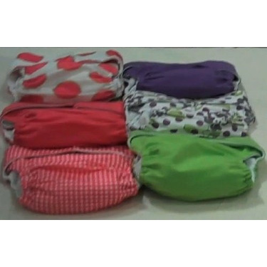 """CuteyBaby """"One and Done!"""" Modern Cloth Diaper Starter Kit - GIRL"""