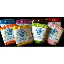 FuzziBunz One Size Cloth Diapers 8 Pack Boy (new) Colors