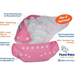FuzziBunz Perfect Size Diaper - WHITE MEDIUM