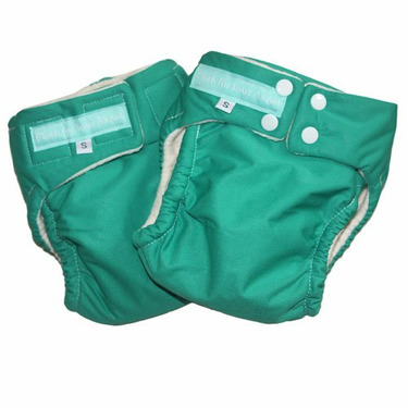 CYA Organic Cotton AIO Velcro - Green Medium