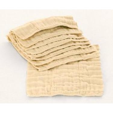 Premium Unbleached Indian Prefold Diapers (15-30 Lbs) 1 Dozen diapers