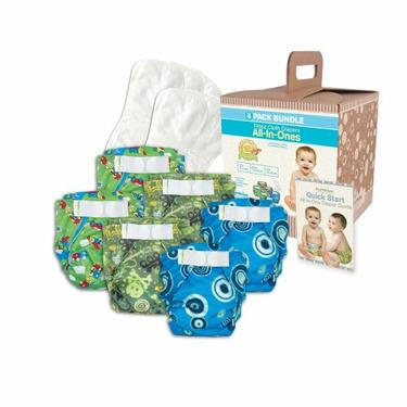 Bumkins Diaper Bundle 6-Pack - Boy, Small