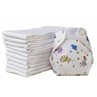 Prefold Cloth Diapers - Extra Absorbant (White)