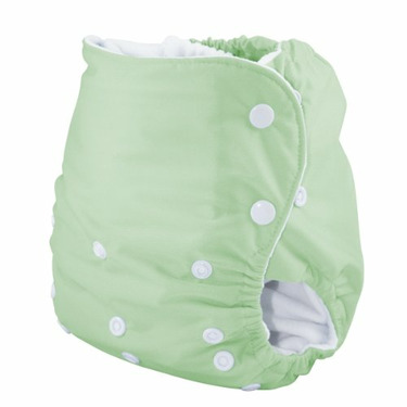 Knickernappies One Size Pocket Diaper with LoopyDo Inserts - Celery