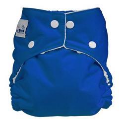 FuzziBunz Perfect Size Diaper - BLUE MEDIUM