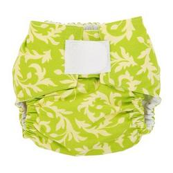 Swirly Buds in Lime Designer Cloth Diaper