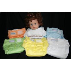 MamaLittleHelper 2.0 One Size Fitted Organic Bamboo Cloth Diaper - GREEN