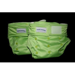 MamaLittleHelper 2.0 One Size Fitted Organic Bamboo Cloth Diaper - GREEN