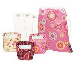 Bumkins Girl Diaper Bundle 3-Pk - M