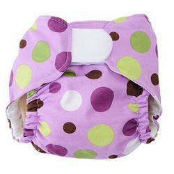 PURPLE LOLLI DOT One Size Designer Cloth Diaper